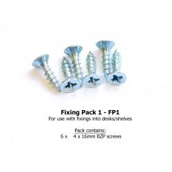 Fixing Pack 1 - 4 x 16mm BZP screws (desk install)