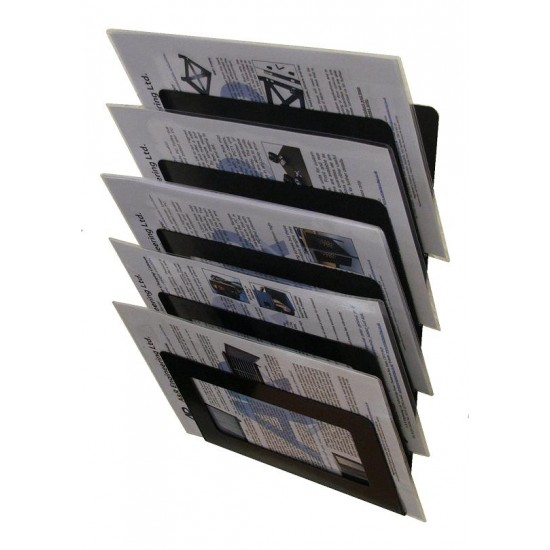 Magazine Wall Rack 5 Tier - Cream Version